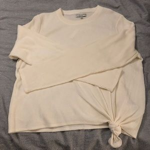 NWT Madewell River & Thread Rib Tie Front Top